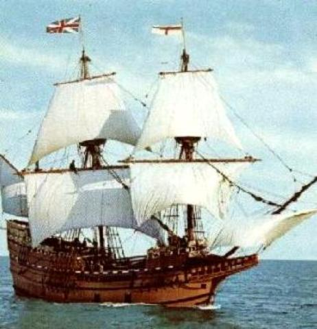 Mayflower Lands in Massachusets