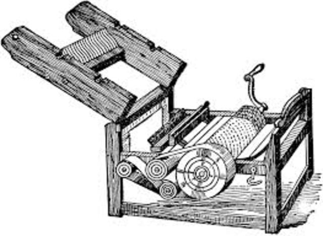 Cotton Gin Granted Patent