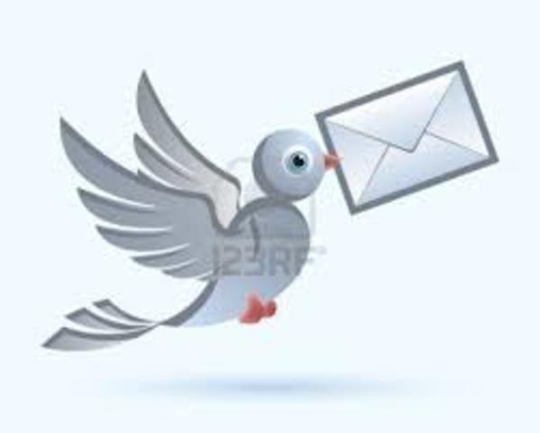 Edad Media desde el siglo V hasta el siglo XV: Comunicación a distancia palomas mensajeras
