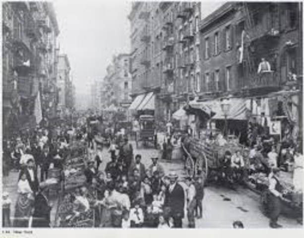 Heavy Period of Immigration: 1880-1920