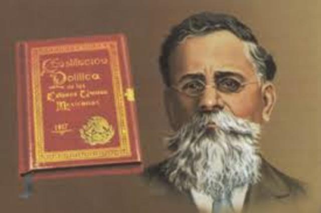 Se preclama la Constitución Mexina de 1917