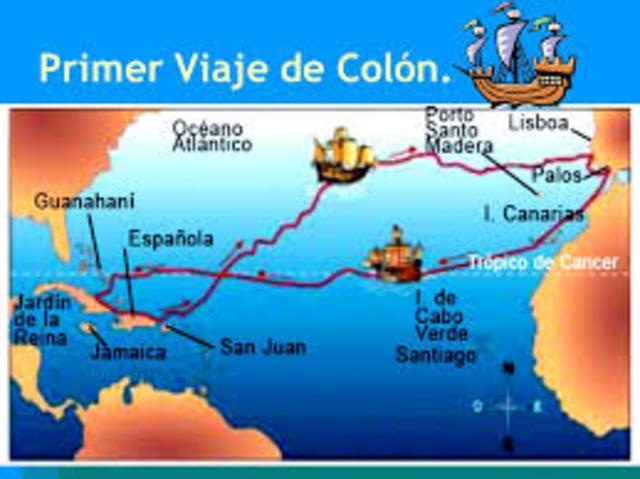 Los viajes de col n timeline timetoast timelines for Cuarto viaje de colon