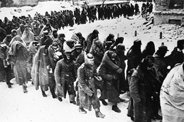 Germans surrender at Stalingrad