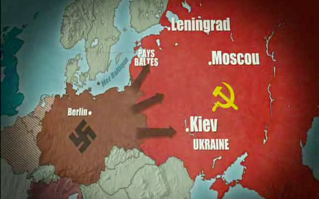 Germany and the Axis Powers attack Russia with a huge force of over four million troops.