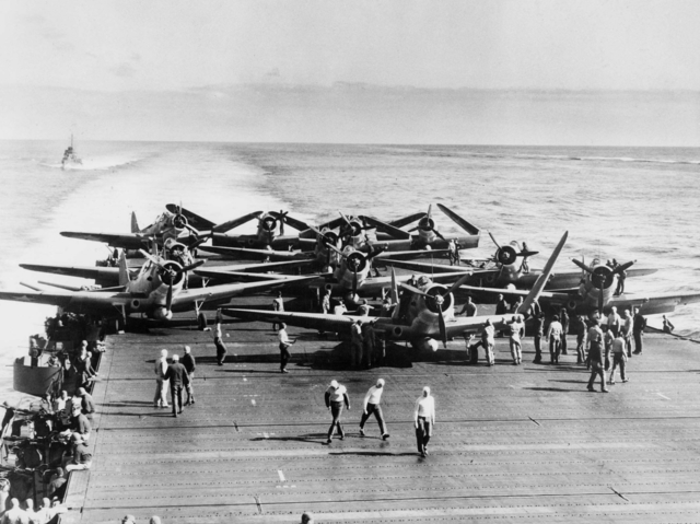 TURNING POINT #2: The US Navy defeats the Japanese navy at the Battle of Midway.