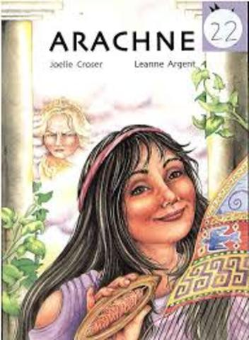 Arachne tells every one that there is no way anyone could have taught her how to weave not Even Athena herself