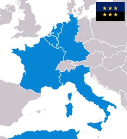 Nacimiento de la CECA (Communidad Europea del Carbon y Acero)
