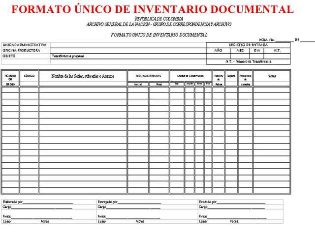 inventario de documentos