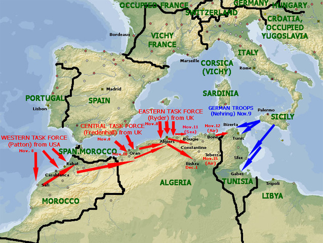 World war ii major battles timeline timetoast timelines operation torch was the brish american invasion of french north africa during world war ii during the north african campaign started on 8 november 1942 gumiabroncs Gallery