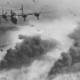 B 24d's fly over polesti during world war ii