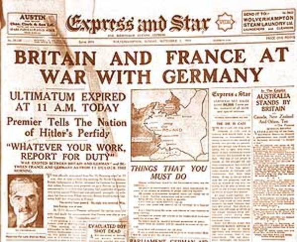 an analysis of the war declared by germany by 1939 france and great britain Great britain declares war against germany, 1939 gas rationing, 1942  announces britain's declaration of war on germany, september 3, 1939   britain and france .