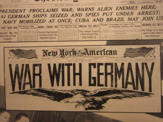 America declared war on Germany.