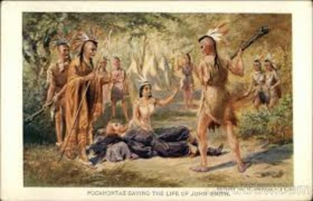 Pocahontas Saves John Smith
