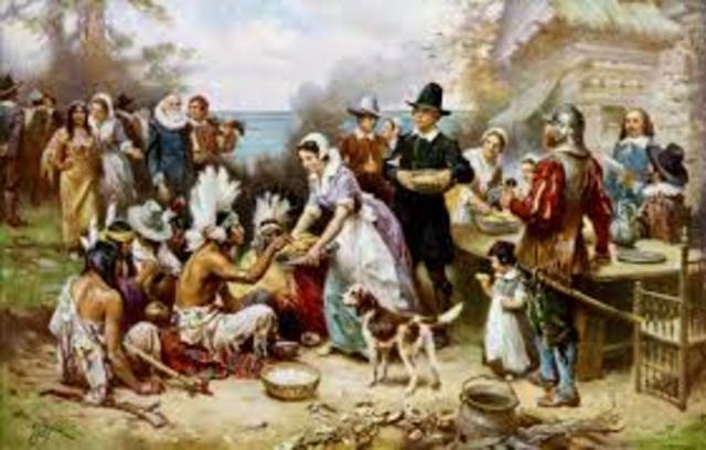 Pocahontas Sends Food to Jamestown
