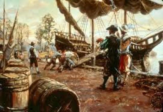 Pocahontas Sails to England