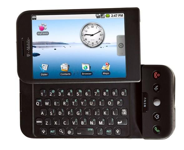 Quinceavo celular de la historia HTC G1