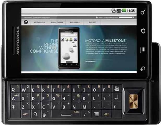 Diesiceisavo celuklar de la historia Motorola Milestone