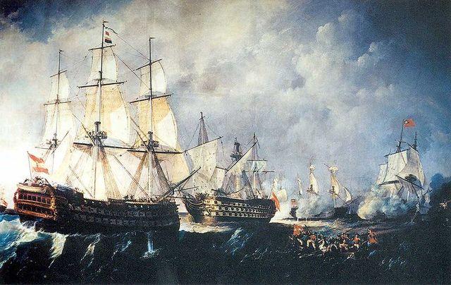 Entrada de barcos a Ámerica