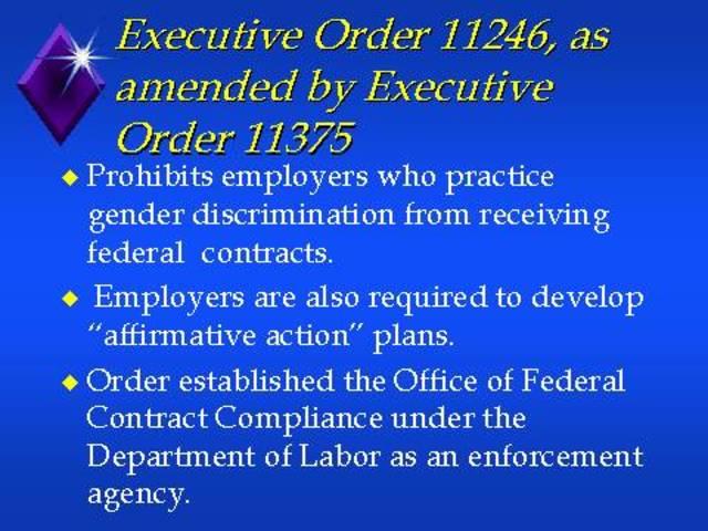 Executive Order 11375