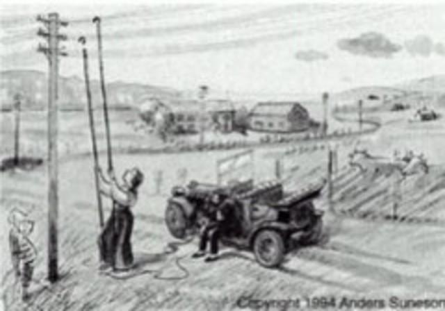 El primer telefono en un automovil