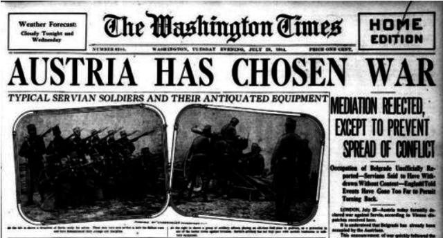 America declares war on Austria-Hungary