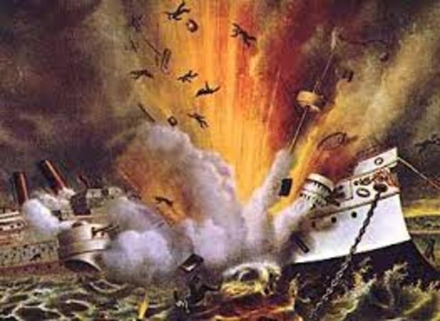The USS Maine sinks!