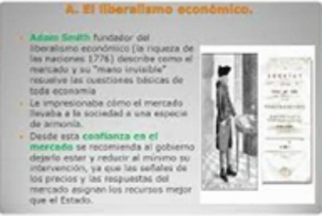 Adam Smith afirma que el estado no debe intervenir en el libre comercio