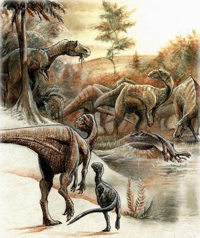 Extinción importante. Desaparecen los últimos dinosaurios y ammonites. Finaliza el Mesozoico.