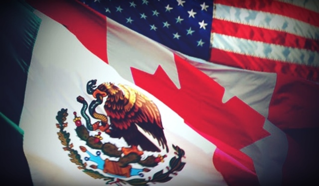 Tratado de Libre Comercio de America del Norte (TLCAN) entre Mexico, Estados Unidos y Canadá