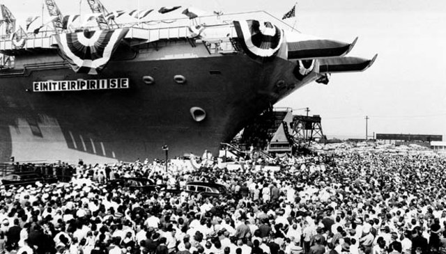 First Nuclear Powered Aircraft Carrier