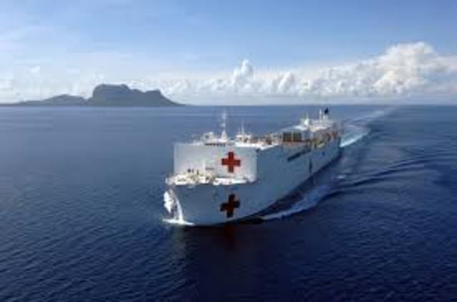 USNS Medical Support After Hurricane Katrina