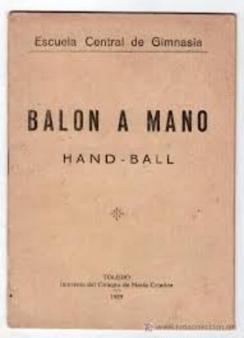 Se establece el Reglamento Oficial del Balonmano