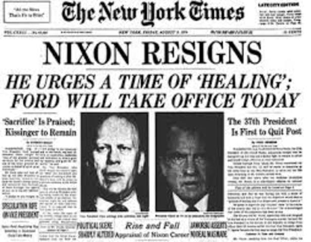nixon resigned