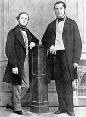 Robert Bunsen and Gustav Kirchhoff