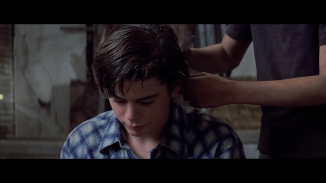 Ponyboy cut his grease hair