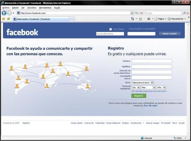 Aparece Facebook en español