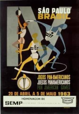 Brasil acoge por primera vez Panamericanos en 1963