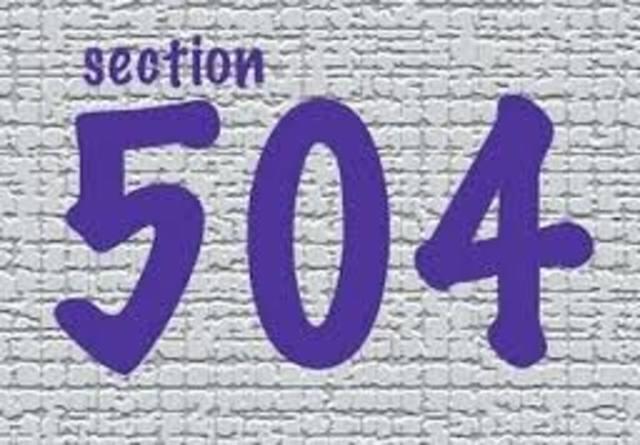 Vocational Rehabilitation Act - Section 504