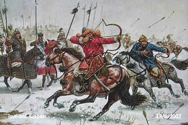Temujin Fights Jamukha