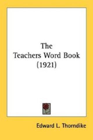 Thorndile's Teacher's Word Book