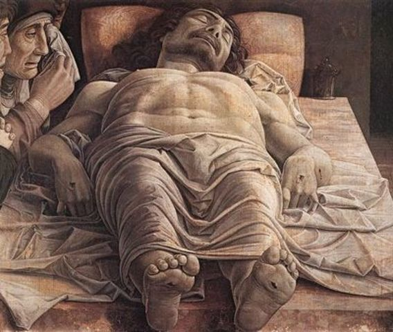 Lamentation over the Dead Christ, Andrea Mantegna (1480, Italy)