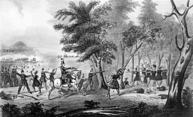 Battle of Thames; Tecumseh's death
