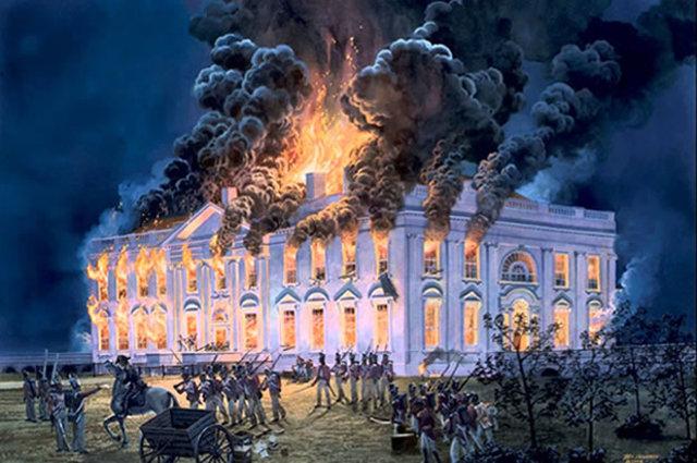 White House Burned