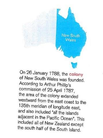 NEw south wales became a colony