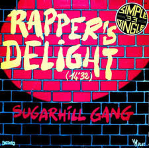 """Sugarhill Gang's """"Rapper's Delight"""" brings popularity to Hip Hop music."""