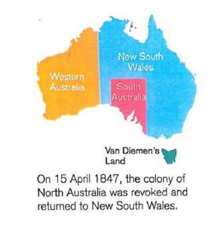 The colony of North Australia was revoked