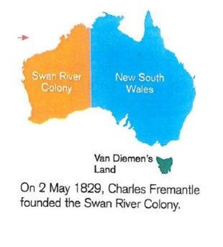 CHarles fremantle founded the Swan river colony