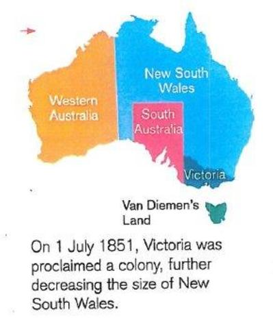Victoria was proclaimed a colony