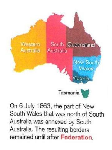 On 6 of july 1863 the part of new south that was north of South australia