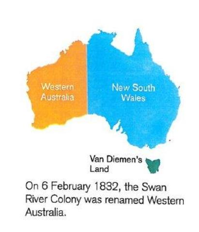 The swan river colony was renamed to Western Australia